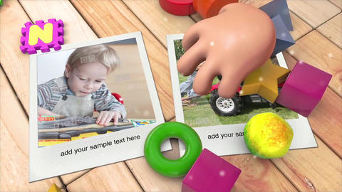 Kid's Photo Album After Effects Template