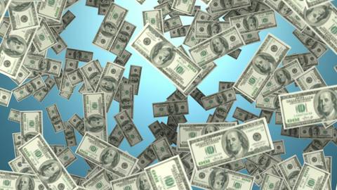 Raining money Animation