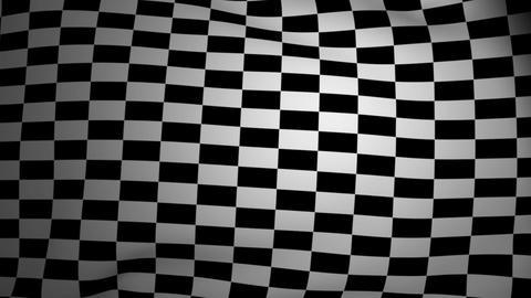 Checkered flag waving Animation