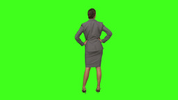 Businesswoman standing with hands on hips Footage
