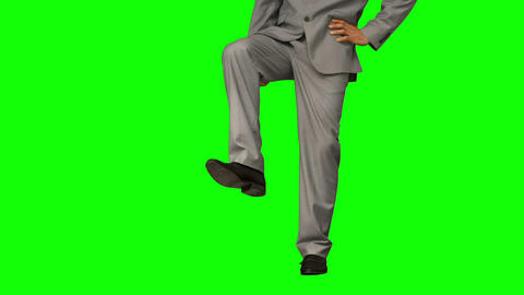 Businessman stepping Live Action
