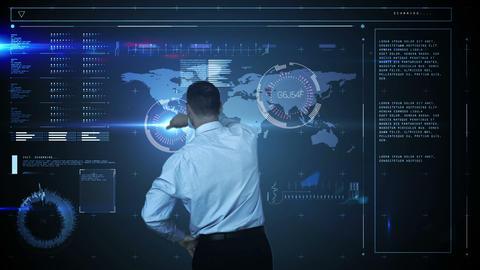 A businessman using a digital interface Animation