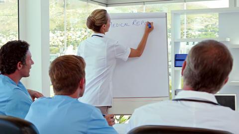 Medical Team Having Medical Report stock footage