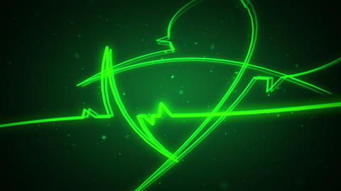 Green glowing streaks, motion background, loopable, 4K, HD Animation