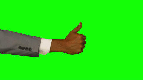 Close up of hand gesturing thumbs up Footage