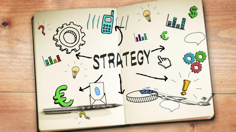 Digital animation of strategy concept Animation
