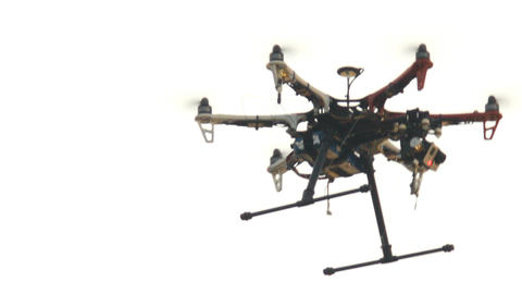 six engine drone with a camera Footage