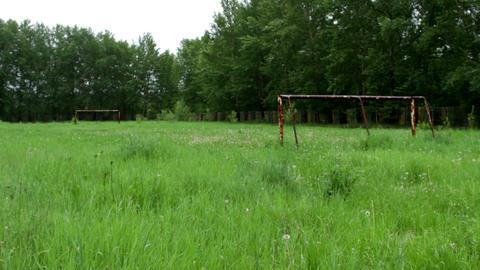 Deserted Football Ground Footage