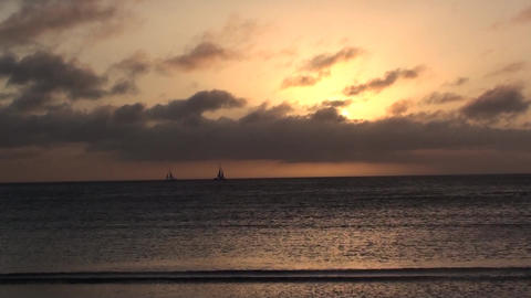 Beach Series Caribbean Beach Sunset Aruba Timelapsed 08 stock footage