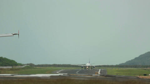 Taxiing stock footage