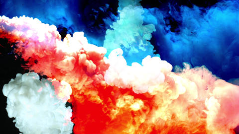 Colored Smoke And Fog 01 stock footage