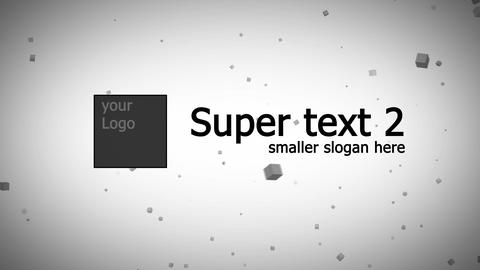 scatter text and logo, particles After Effects Template