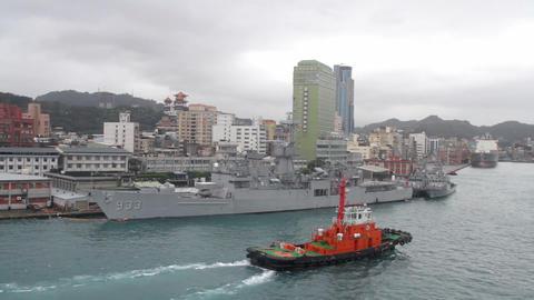 Keelung Harbor.HD ภาพวิดีโอ