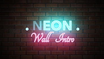 Neon Wall Intro - Apple Motion and Final Cut Pro X Template Apple Motion Template