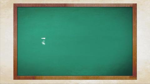 ありがとう 黒板 手書き風 動画素材, ムービー映像素材