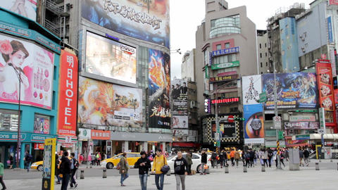 Taipei Hsimending Street view.HD 影片素材