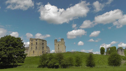 Helmsley Castle Ruins, North Yorkshire, UK stock footage