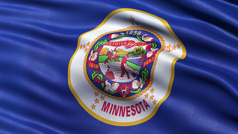 4K Minnesota state flag seamless loop Ultra-HD Animation