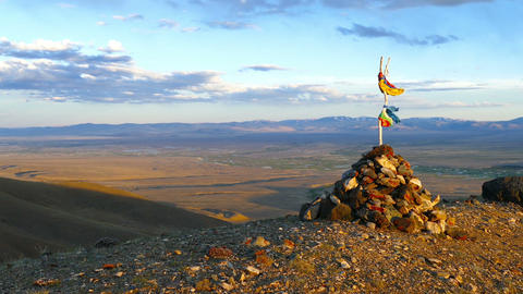 landscape with sacred pass in Altai mountains Footage