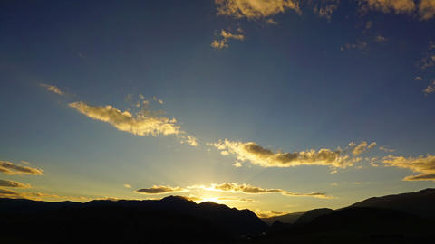 Beautiful Mountain Sunset - Timelapse stock footage