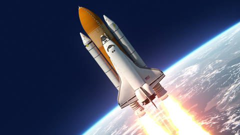 Space Shuttle Launch Animation