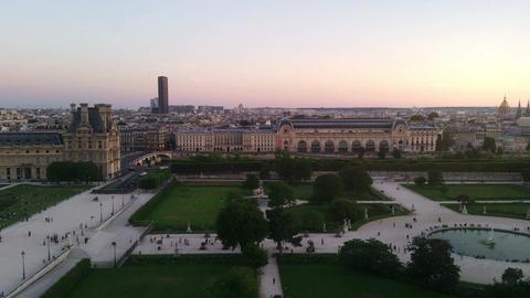 Aerial view on Paris, Live Action