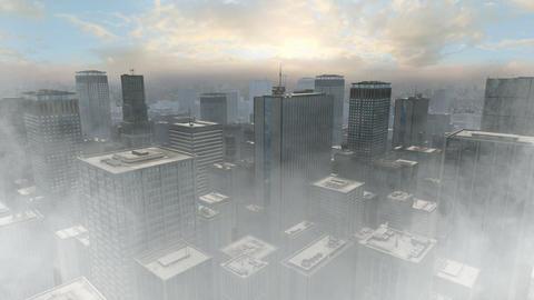 Urban City 03 Foggy stock footage