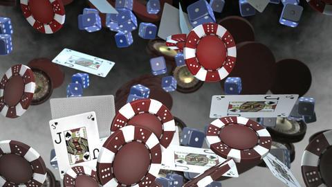 Casino objects falling down Footage