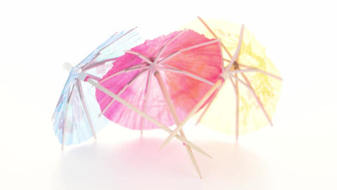 Paper Umbrellas For Cocktails stock footage