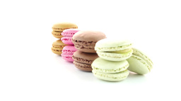 Colorful French Macarons Footage