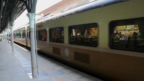Taiwan Railway (TRA), Tze Chiang Express Train at Taichung Station. HD Footage
