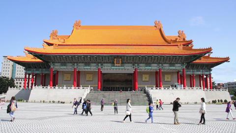 Taipei Liberty Square National Music Hall.HD 影片素材