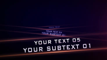 Speeding Titles After Effects Projekt