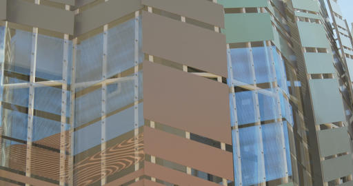 architectural metal glass pattern 02 Footage