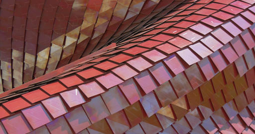 architectural metal red pattern 01 Footage
