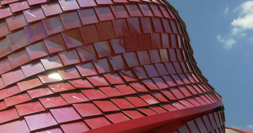 architectural metal red pattern 03 Footage