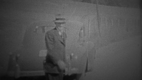 CHICAGO - 1942: A trip to the outskirts of the city let's a couple of people blo Footage