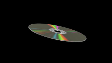CD/DVD Disk. Looped Stock Video Footage