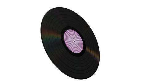 Vinyl disk with alpha matte Animation