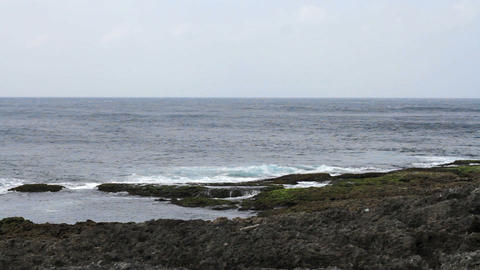 Seascape in Kenting National Park, Taiwan. HD Footage