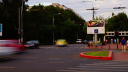BUCHAREST, ROMANIA - JULY 2015 - Crowded Intersection,Sunday Eveninig Rush Time  Footage