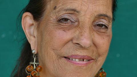 19 Hispanic People Portrait Happy Elderly Woman Smiling Face Footage