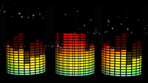 Dynamic Music Background Graphic Visual Effect Footage