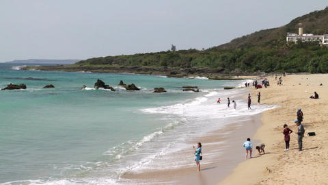 Taiwan Kenting National Park Seascape. HD Footage