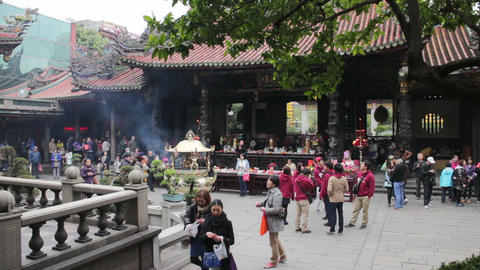 Taipei Longshan Temple. HD Footage