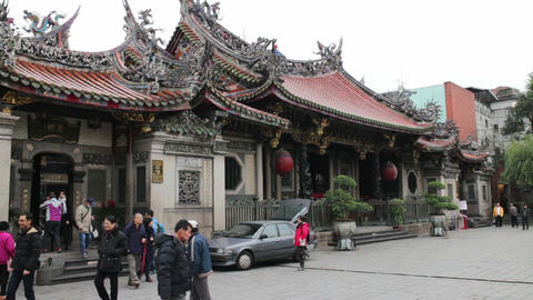 Taipei Longshan Temple. HD Footage