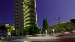 BUCHAREST, ROMANIA - JULY, 2015: Rush Hour In University Square, Zoom In stock footage
