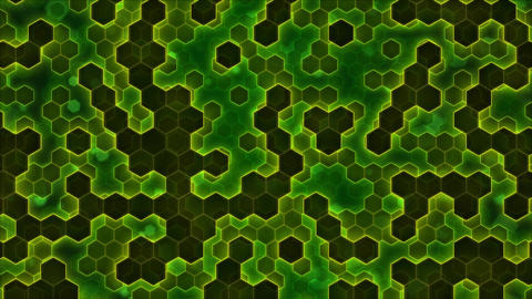 Scrolling Hexagon Background Animation - Loop Green CG動画