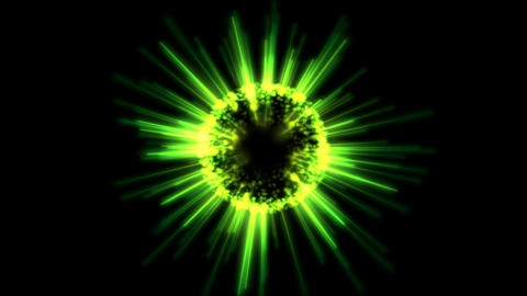 Abstract Rotating Shining Sphere Animation - Loop Green Animation