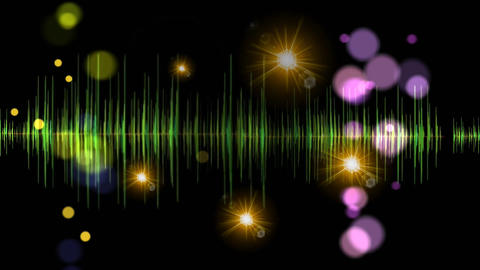 Music Background Light Graphic Motion Visual Effect stock footage